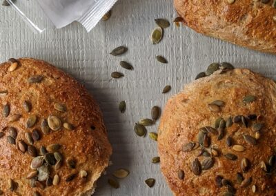 Buns With Greek Yogurt & Pumpkin Seeds