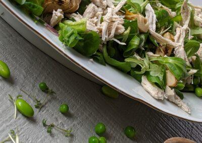 Kylling Salat Med Grillede Artiskokker