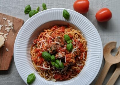 Lady & Vagabonden Spaghetti Meatballs