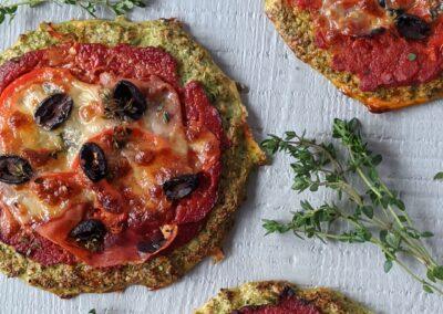 Mini Broccoli Pizza