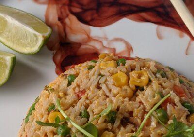 Fried Rice Med Grøntsager