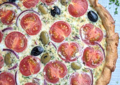 Tomat Oliven Tærte
