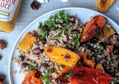 Perlespelt Salat M. Grillede Mini peberfrugter