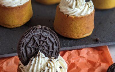 Halloween Muffins Med Græskar & Cream Cheese Topping