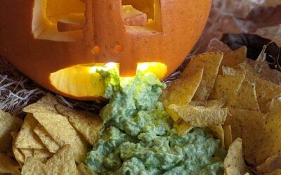 Spooky Græskar Med Chunky Guacamole